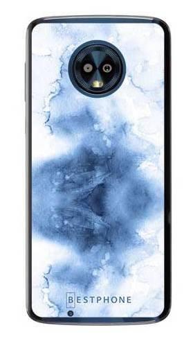 Etui niebieska akwarela na Motorola Moto G6