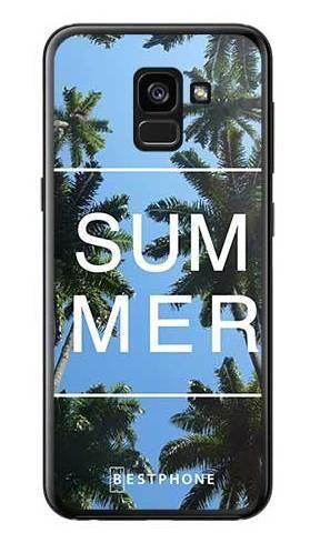 Etui palmy summer na Samsung Galaxy A7 2018