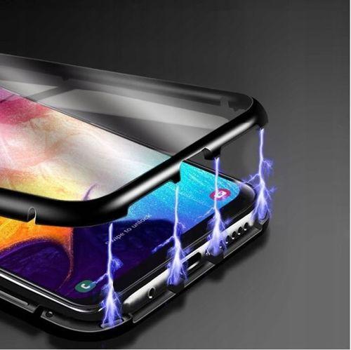 Etui pancerne Magnetic 3w1 Samsung Galaxy NOTE 10 Aluminium i Szkło Double Magnetic 360 czarne