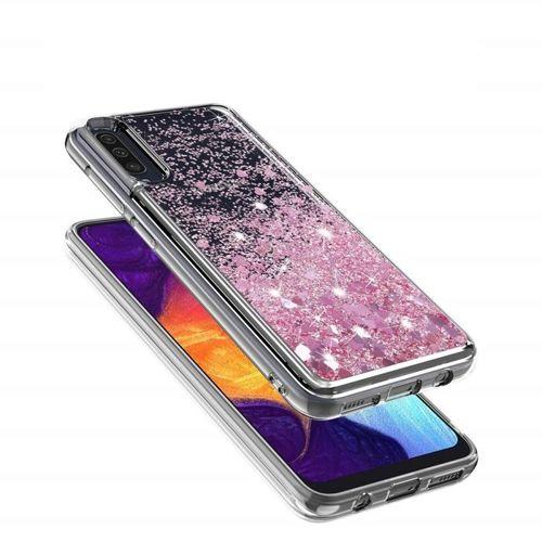 Etui plecki brokatowe Liquid Samsung Galaxy A10 różowe