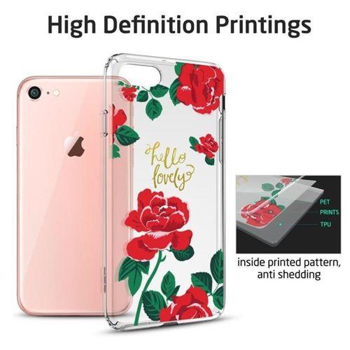 Etui pokrowiec ESR ART CASE IPHONE 7/8 RED ROSE