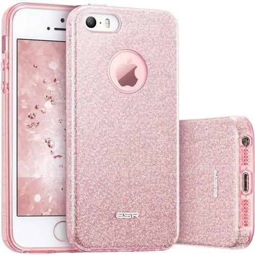 Etui pokrowiec ESR GLITTER SHINE IPHONE 5S/SE ROSE GOLD