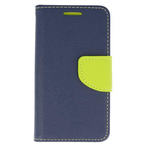 Etui portfel z klapką Fancy SAMSUNG GALAXY A10 granatowo-limonkowe