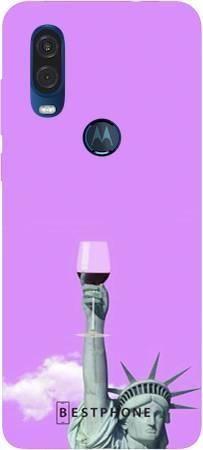 Etui posąg z winem na Motorola MOTO ONE VISION