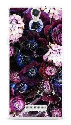 Etui purpurowa kompozycja kwiatowa na MyPhone Cube