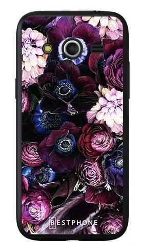 Etui purpurowa kompozycja kwiatowa na Samsung Galaxy Core LTE