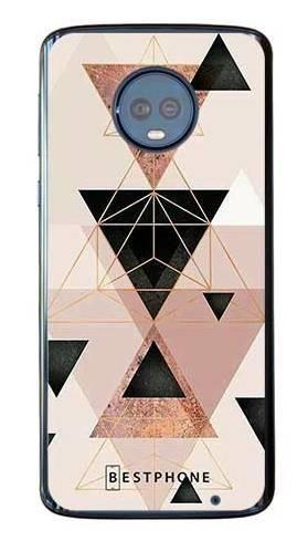 Etui trójkąty pudrowe na Motorola Moto G6 Plus