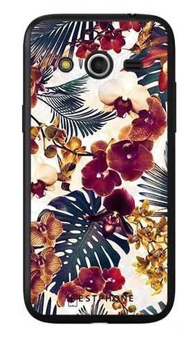 Etui tropikalne kwiaty na Samsung Galaxy Core LTE