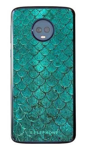 Etui turkusowa rybia łuska na Motorola Moto G6 Plus