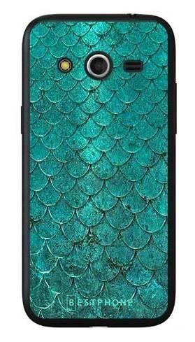 Etui turkusowa rybia łuska na Samsung Galaxy Core LTE