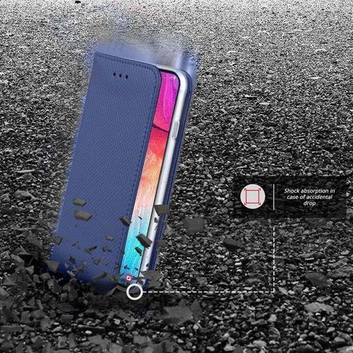 Etui z klapka Flip Magnet LG G8S ThinQ granatowe