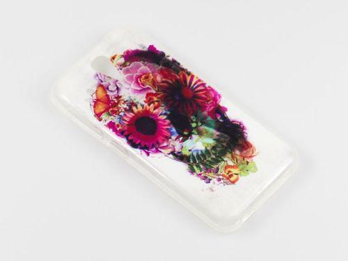 FANCY Alcatel Pop C3 różowe kwiaty
