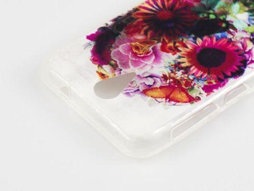 FANCY Alcatel Pop C9 czaszka kwiaty