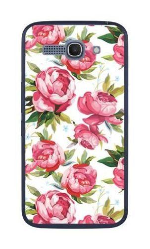 FANCY Alcatel Pop C9 różowe kwiaty