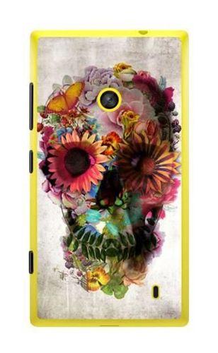 FANCY Nokia Lumia 520 czaszka kwiaty