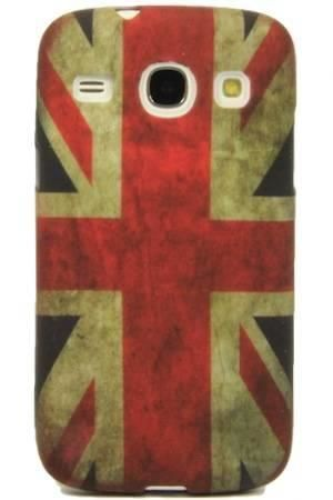 FLOWER Samsung GALAXY CORE plus flaga uk vintage
