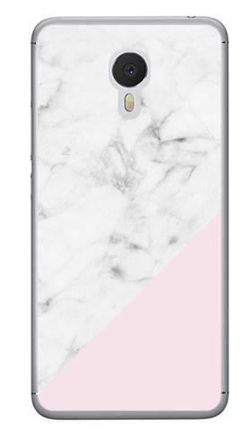 Foto Case Meizu M3 NOTE biały marmur z pudrowym