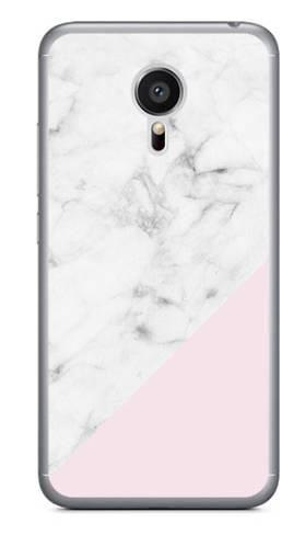 Foto Case Meizu MX5 biały marmur z pudrowym