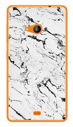 Foto Case Microsoft Lumia 535 biały marmur