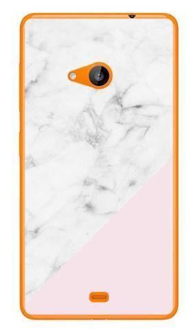 Foto Case Microsoft Lumia 535 biały marmur z pudrowym