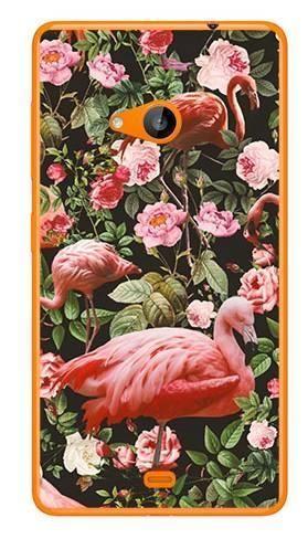 Foto Case Microsoft Lumia 535 tropikalne flamingi