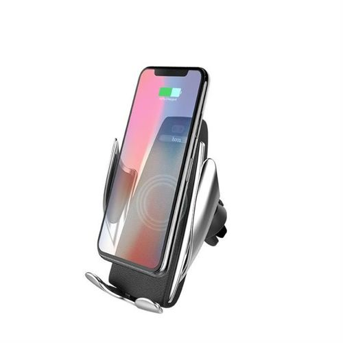 HOCO CA34 CAR WIRELESS CHARGING HOLDER SILVER