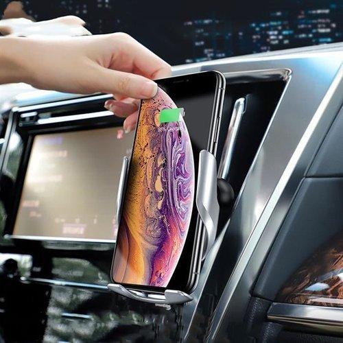 HOCO S14 uchwyt samochodowy z ładowarką indukcyjną GOLD