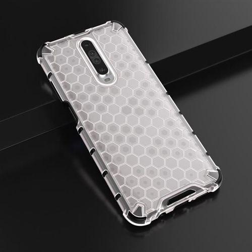 Honeycomb etui pancerny pokrowiec z żelową ramką Xiaomi Redmi K30 przezroczysty