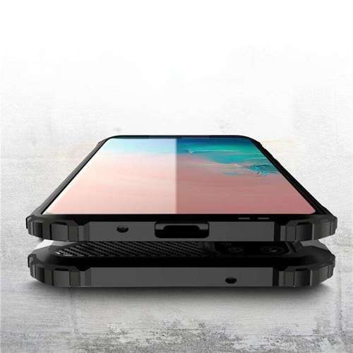Hybrid Armor pancerne hybrydowe etui pokrowiec Samsung Galaxy S20 Ultra niebieski