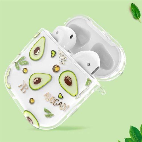 Kingxbar Fruit Airpods Case etui z kryształami Swarovskiego na słuchawki AirPods 2 / AirPods 1 przezroczysty
