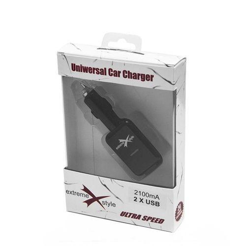 Ładowarka samochodowa USB x2 EXTREME 2,1A