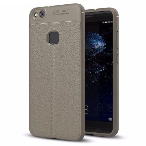 Litchi Pattern elastyczne etui pokrowiec Huawei P10 Lite szary