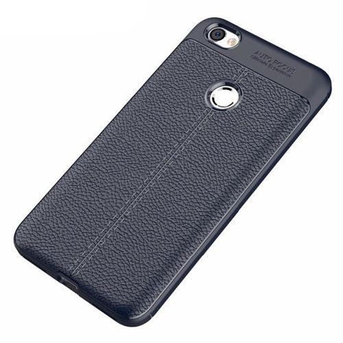 Litchi Pattern elastyczne etui pokrowiec Xiaomi Redmi Note 5A Prime niebieski