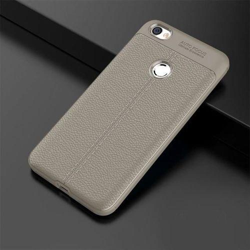 Litchi Pattern elastyczne etui pokrowiec Xiaomi Redmi Note 5A Prime szary