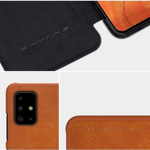 Nillkin Qin skórzana kabura etui Samsung Galaxy A71 czarny