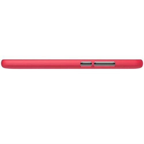 Nillkin Super Frosted Shield wzmocnione etui pokrowiec + folia Huawei Mate 10 czerwony