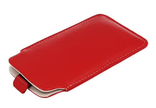 Pionowa skórzana wsuwka Vena SAMSUNG S6500/ LG L3 czerwona