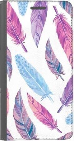 Portfel DUX DUCIS Skin PRO fioletowe piórka na Huawei Honor 9 Lite