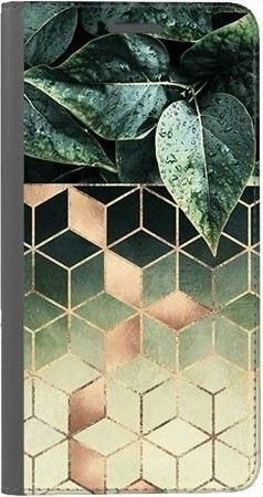 Portfel DUX DUCIS Skin PRO geometryczna roślina na Huawei Honor 7x