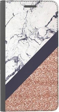 Portfel DUX DUCIS Skin PRO marmurowy brokat na Huawei Honor 10