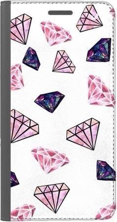 Portfel DUX DUCIS Skin PRO różowe diamenty na Huawei Honor 7x