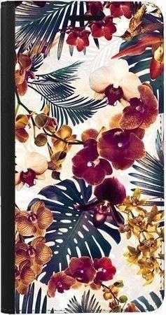 Portfel DUX DUCIS Skin PRO tropikalne kwiaty na Samsung Galaxy A70