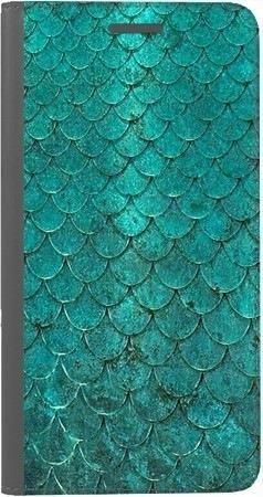Portfel DUX DUCIS Skin PRO turkusowa rybia łuska na Huawei Honor 10
