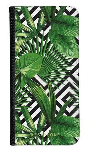 Portfel Wallet Case LG G8 ThinQ kwiaty tropikalne geometryczne
