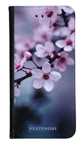 Portfel Wallet Case LG G8 ThinQ kwiaty wiśni
