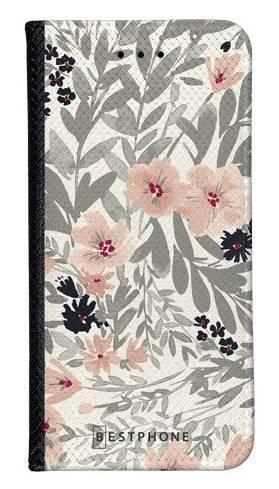 Portfel Wallet Case LG G8 ThinQ szare kwiaty