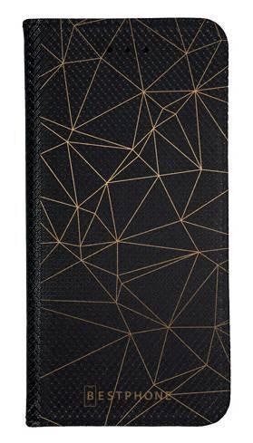 Portfel Wallet Case LG G8 ThinQ trójkątny wzór złoty