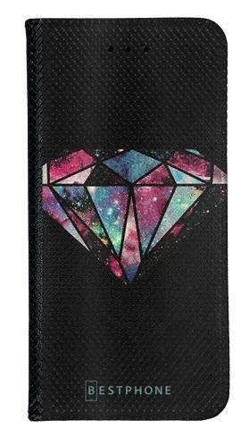 Portfel Wallet Case LG K40 kolorowy diament