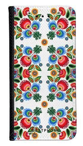 Portfel Wallet Case LG K40 kwiaty łowickie