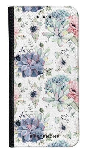 Portfel Wallet Case LG K40 pastelowe kwiatki
